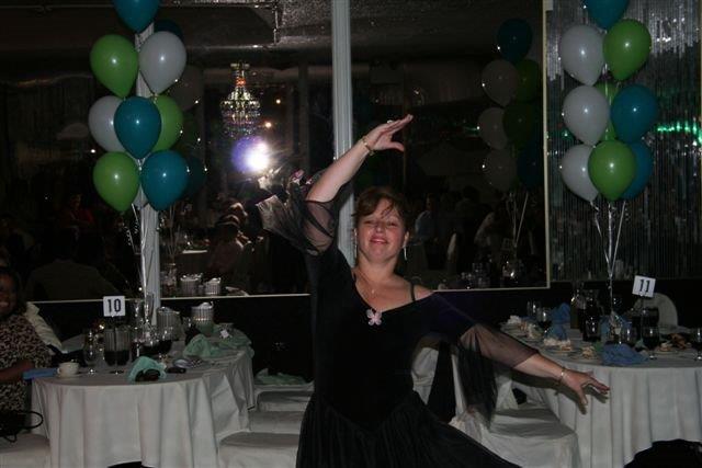 Florence Webber Dancing at Wedding Celebration