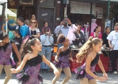 Performing with Ridgewood Dancers