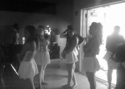 greyscale dancers